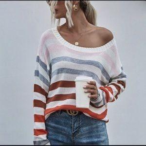 🎉🎉HOST PICK🎉Positano Crew Neck Striped Sweater